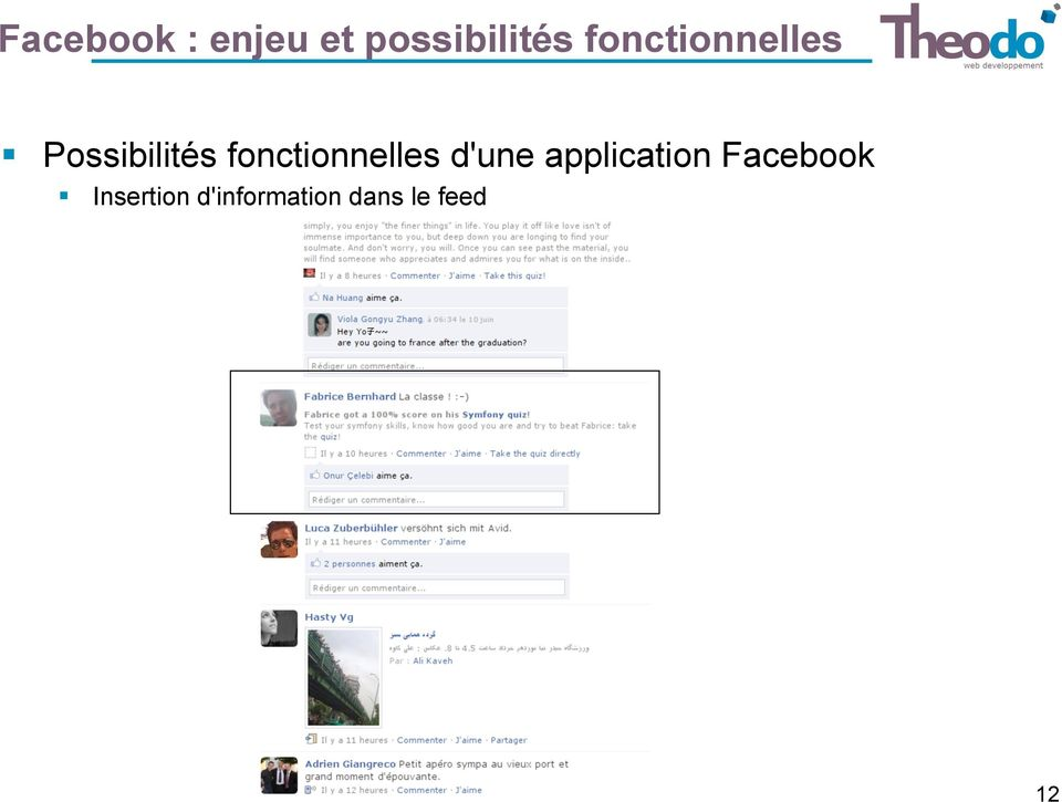 fonctionnelles d'une application