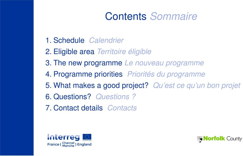 The new programme Le nouveau programme 4.