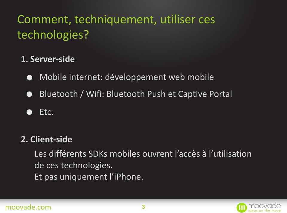Bluetooth Push et Captive Portal Etc. 2.