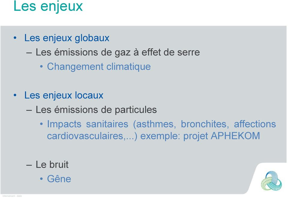 particules Impacts sanitaires (asthmes, bronchites, affections