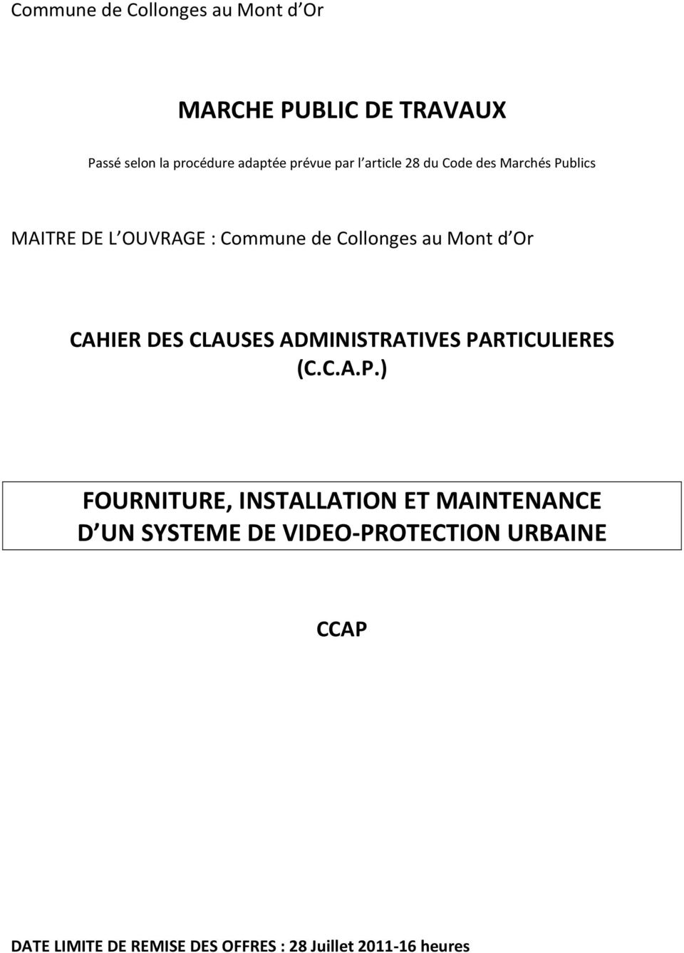 CAHIER DES CLAUSES ADMINISTRATIVES PA