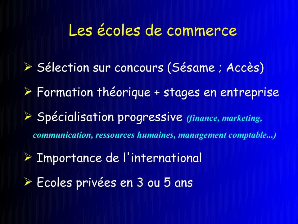 progressive (finance, marketing, communication, ressources humaines,