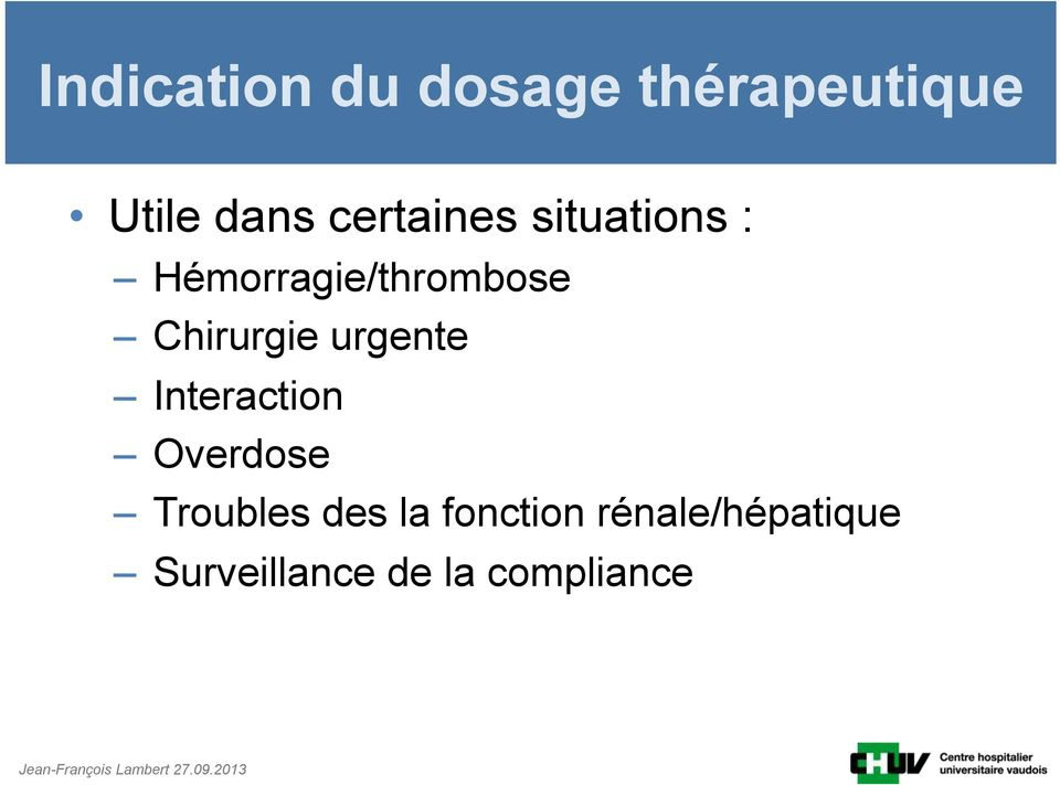Chirurgie urgente Interaction Overdose Troubles