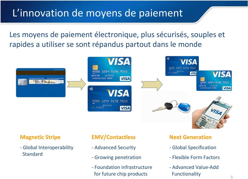 Standard EMV/Contactless - Advanced Security - Growing penetration - Foundation infrastructure for