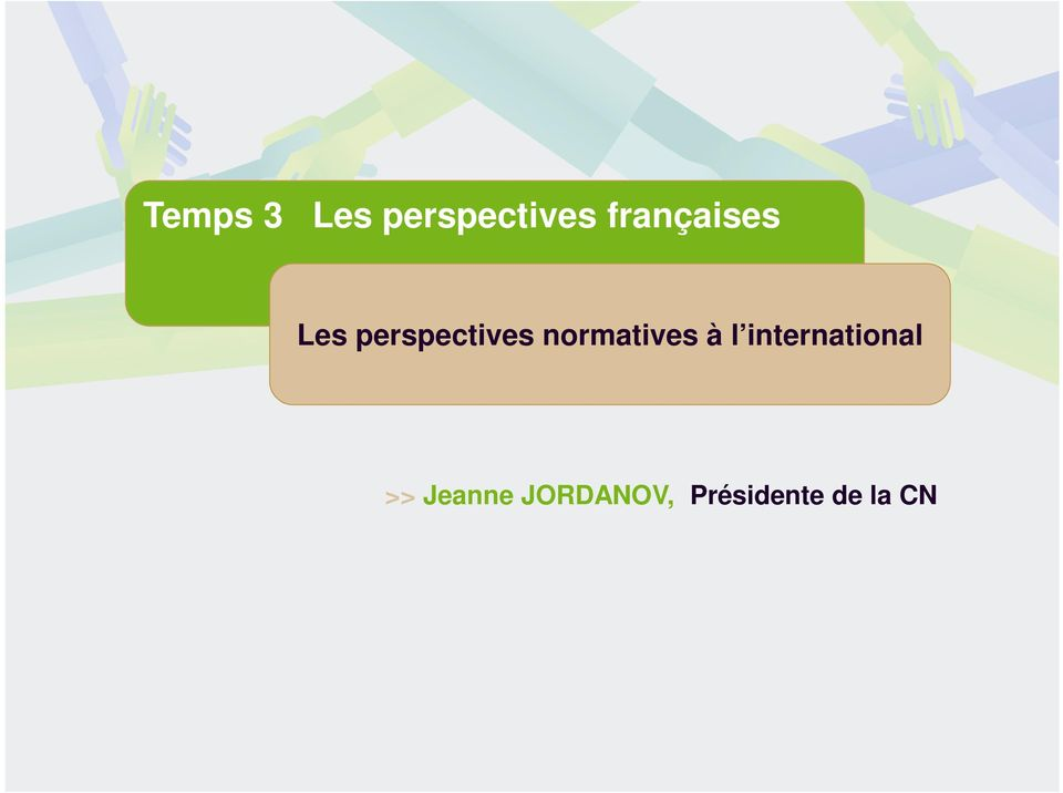 normatives à l international