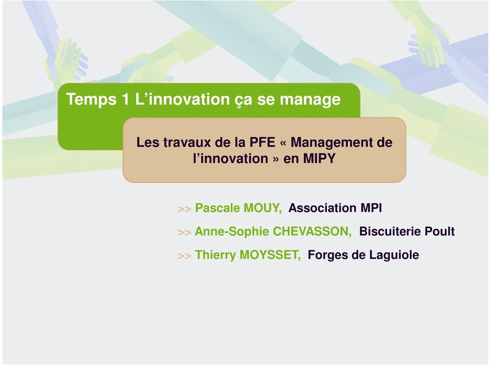 MOUY, Association MPI >> Anne-Sophie CHEVASSON,