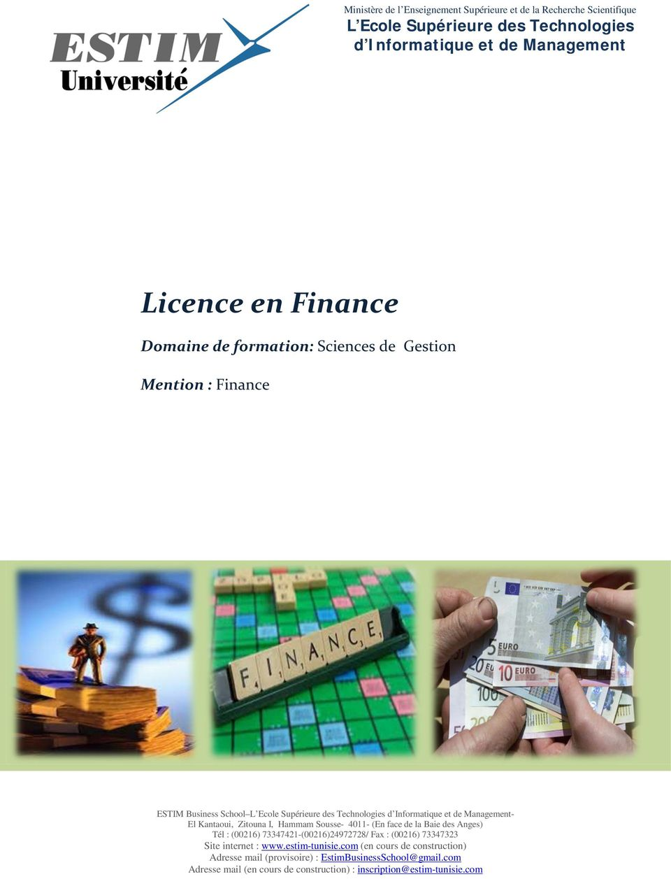 Technologies d et de Management Licence en Finance