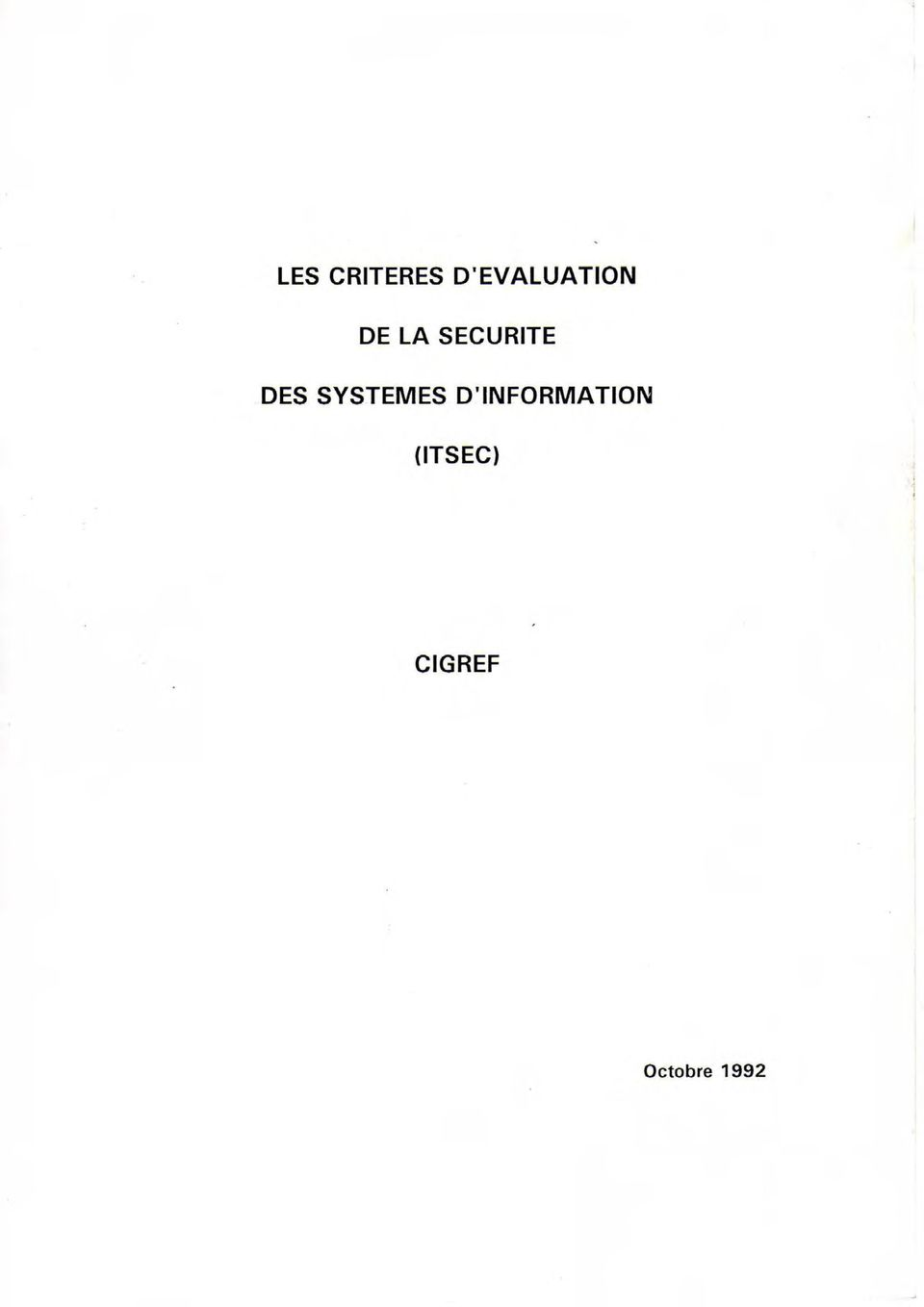 SECURITE DES SYSTEMES