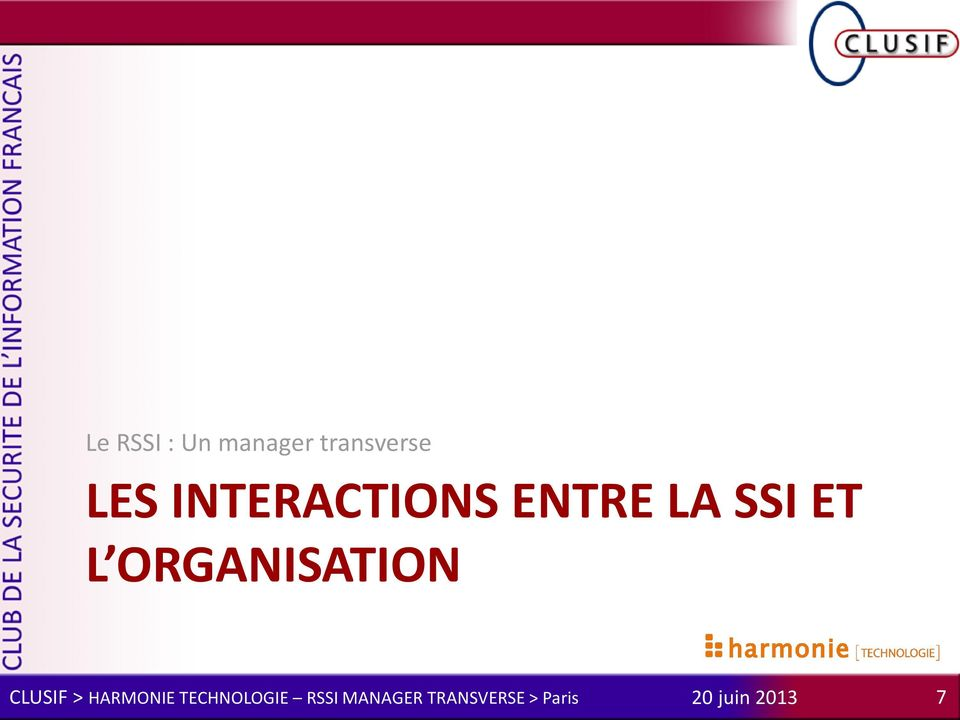 INTERACTIONS ENTRE