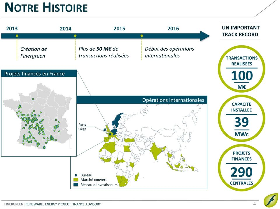 internationales TRANSACTIONS REALISEES 100 M Paris Siège Opérations internationales