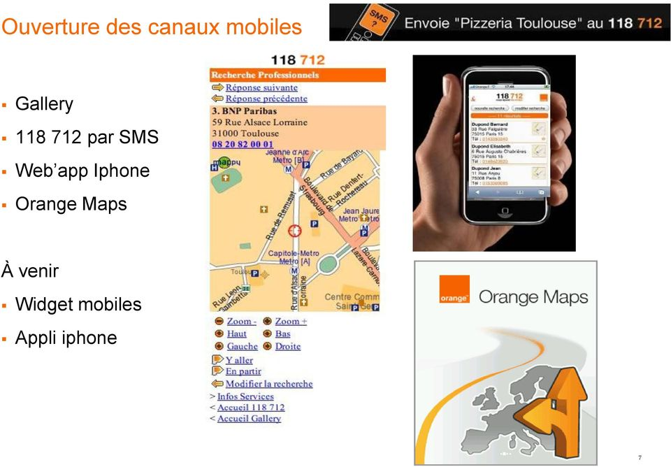 app Iphone Orange Maps À