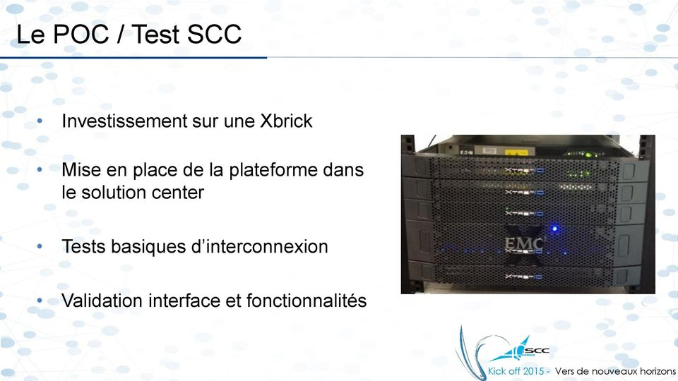 le solution center Tests basiques d