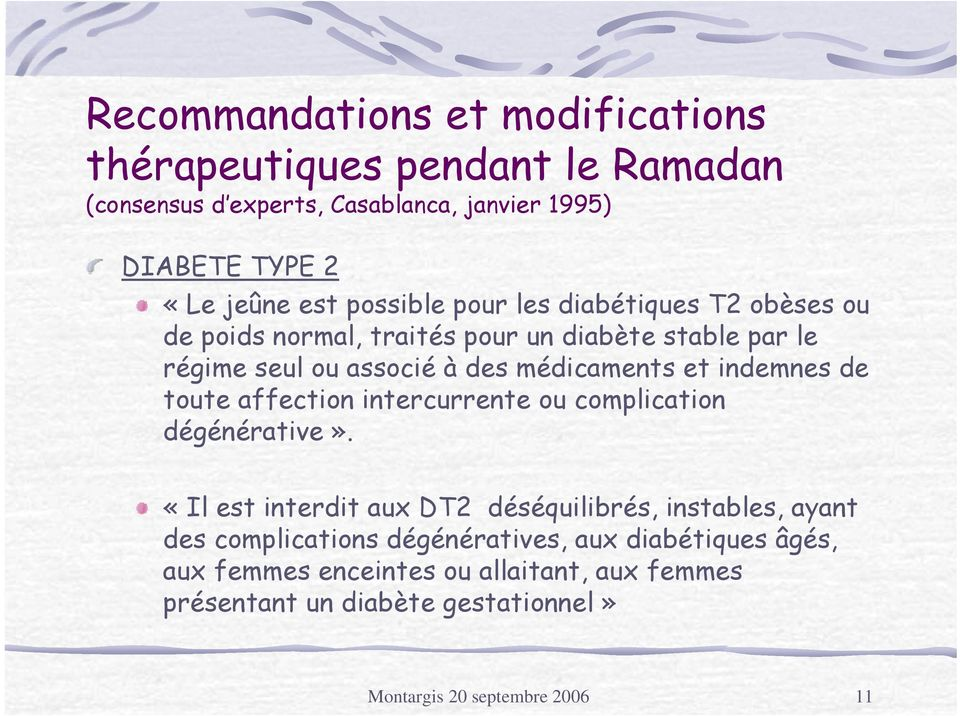 indemnes de toute affection intercurrente ou complication dégénérative».