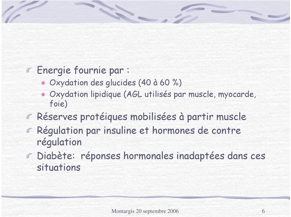 partir muscle Régulation par insuline et hormones de contre régulation