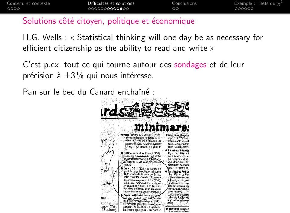 Wells : «Statistical thinking will one day be as necessary for efficient citizenship as the