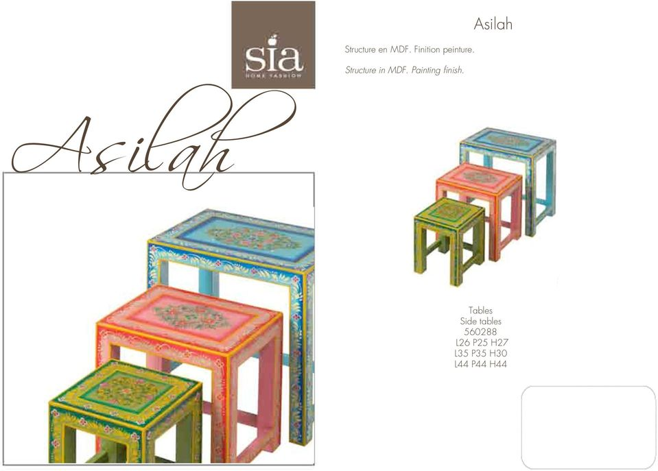 Asilah Asilah Tables Side tables