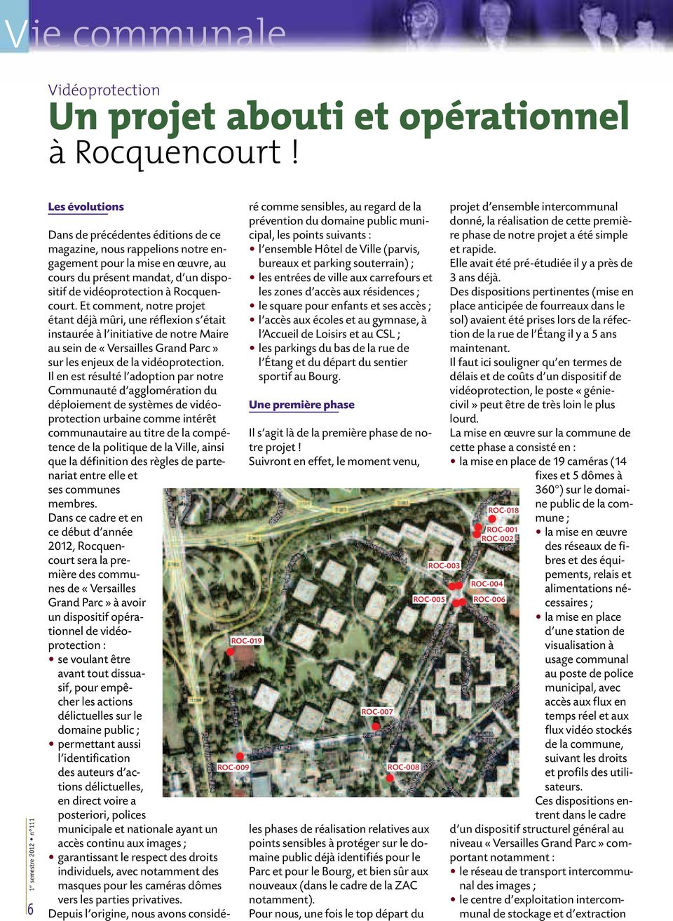dispositif de vidéoprotection à Rocquencourt.