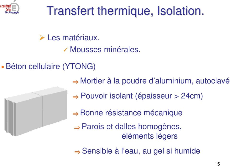 Transfert thermique isolation pdf - Resistance thermique ytong ...