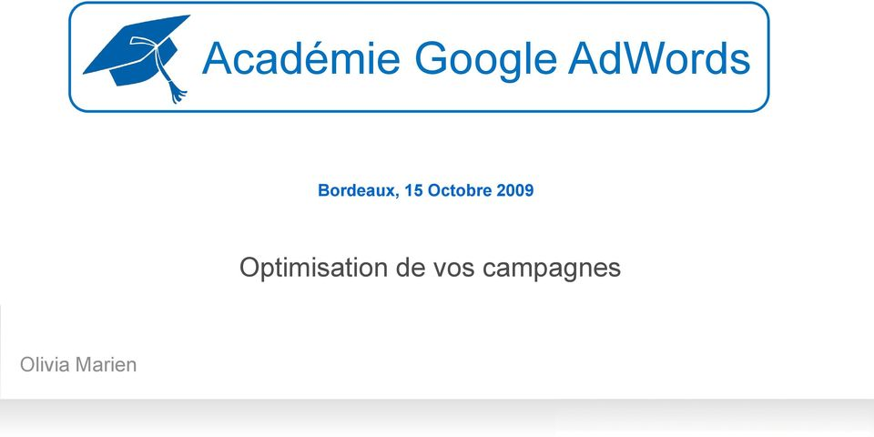 2009 Optimisation de