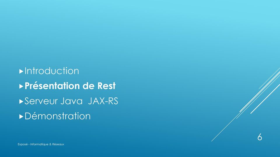 Rest Serveur Java