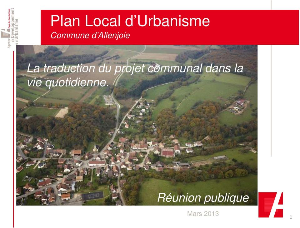 traduction du projet communal