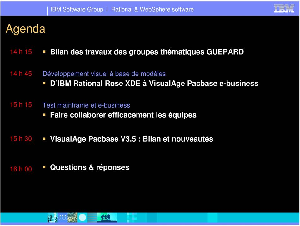 Pacbase e-business 15 h 15 Test mainframe et e-business Faire collaborer