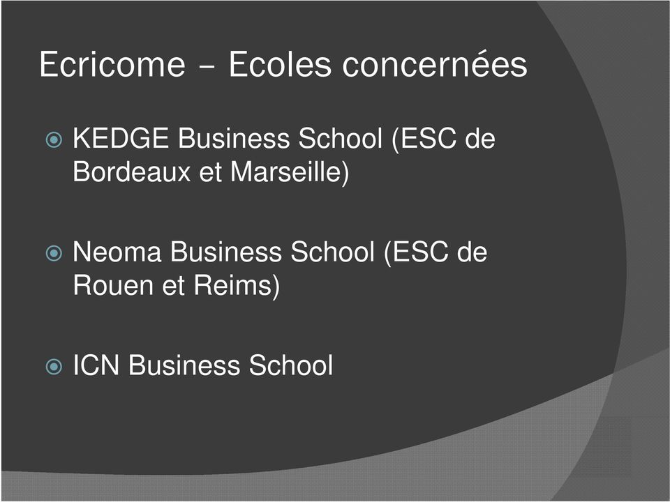 Marseille) Neoma Business School