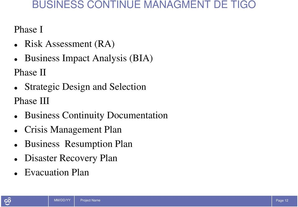 Business Continuity Documentation Crisis Management Plan Business