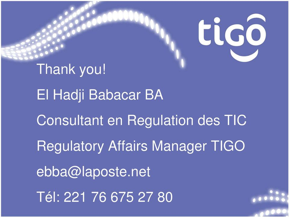 Regulation des TIC Regulatory