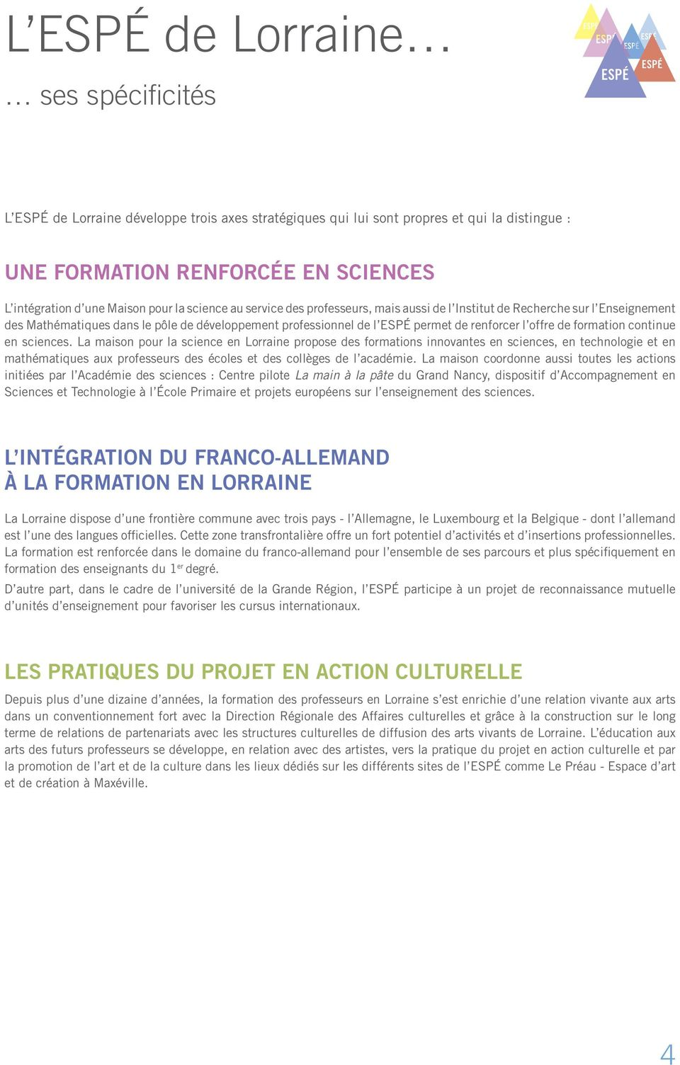 formation continue en sciences.