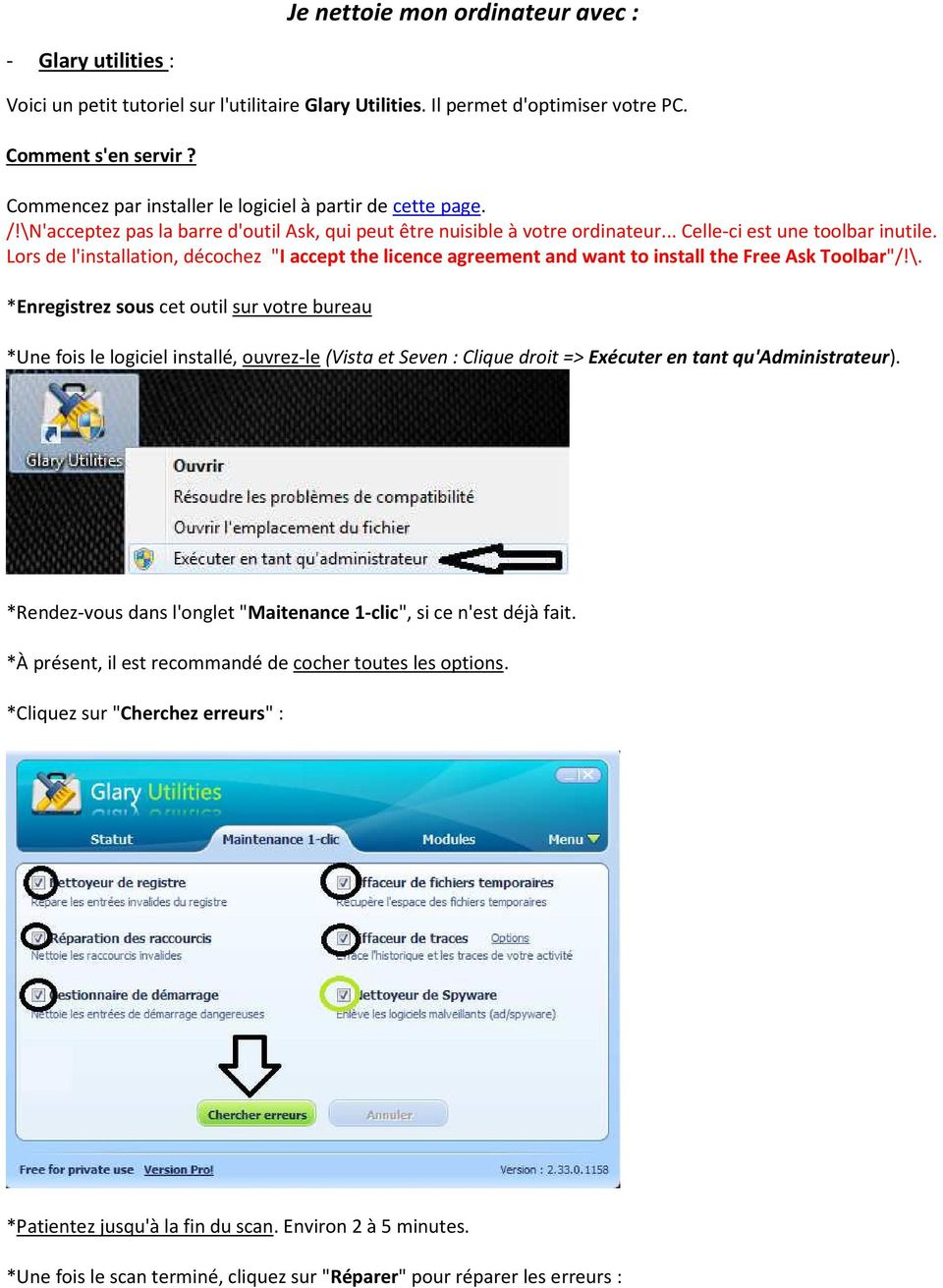 "Lors de l'installation, décochez ""I accept the licence agreement and want to install the Free Ask Toolbar""/!\."