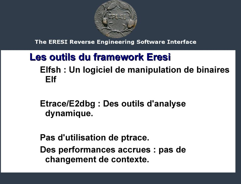 outils d'analyse dynamique.