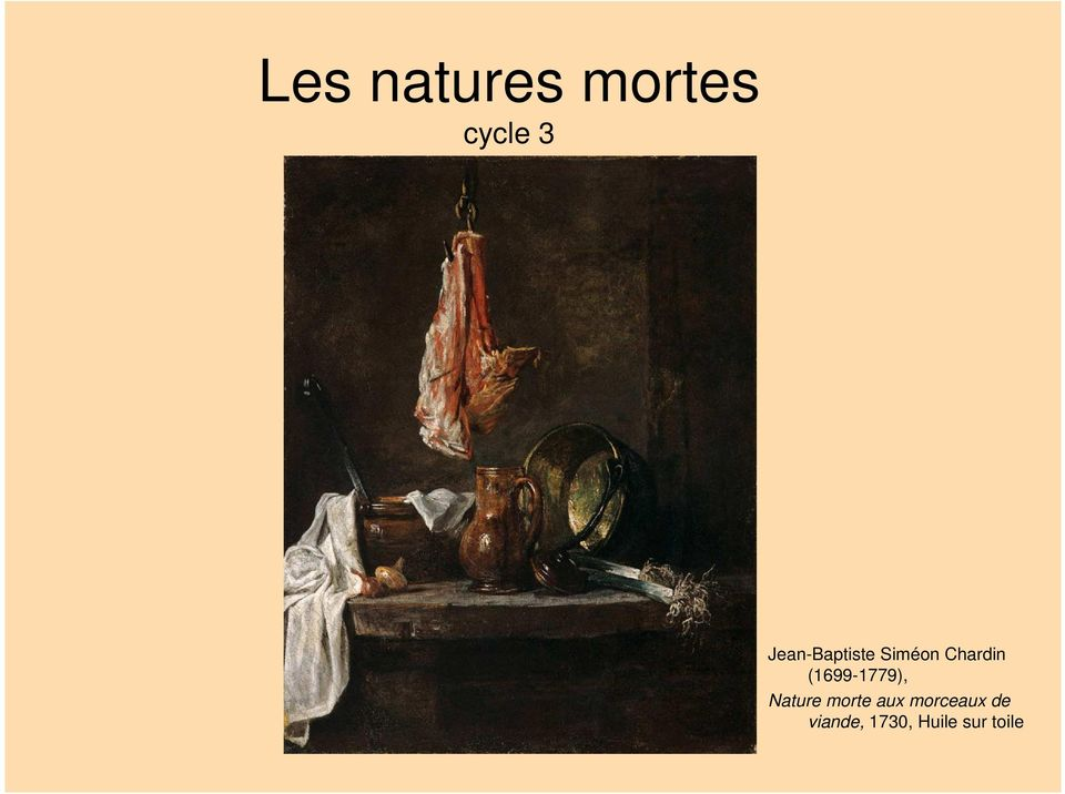 (1699-1779), Nature morte aux