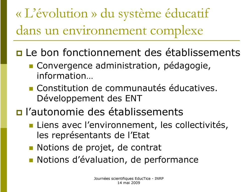 éducatives.