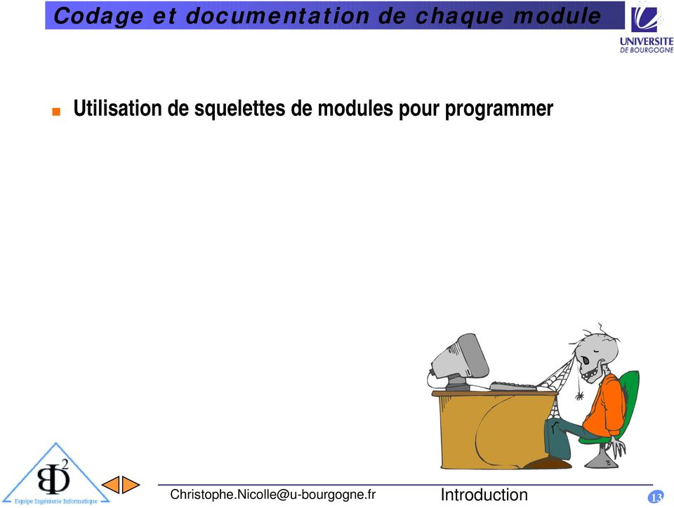 modules pour programmer Christophe.
