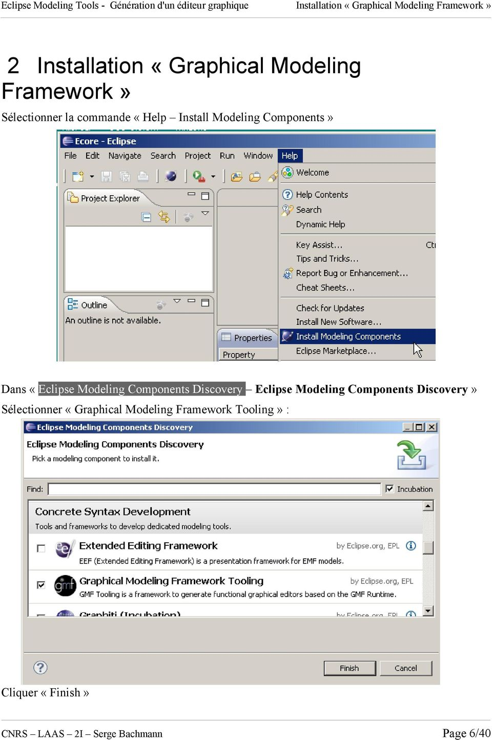 Modeling Components Discovery Eclipse Modeling Components Discovery» Sélectionner