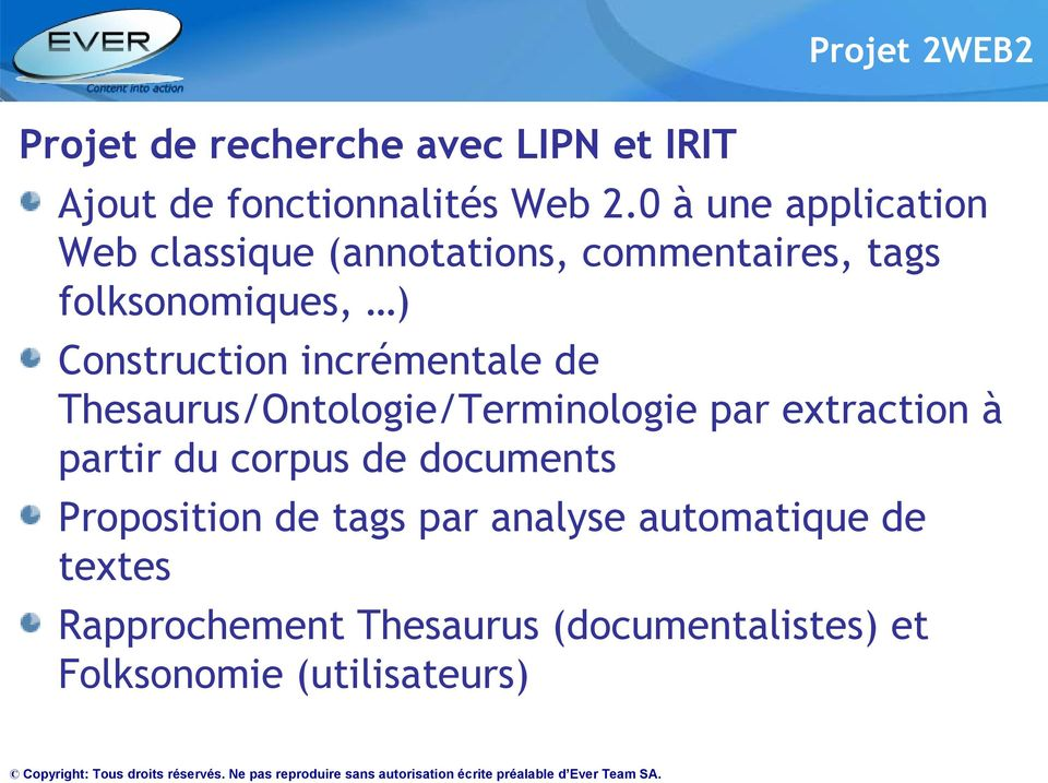 incrémentale de Thesaurus/Ontologie/Terminologie par extraction à partir du corpus de documents