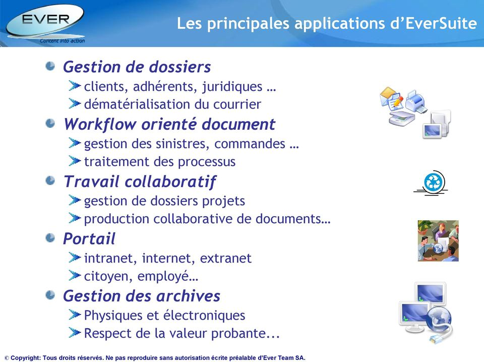processus Travail collaboratif gestion de dossiers projets production collaborative de documents Portail