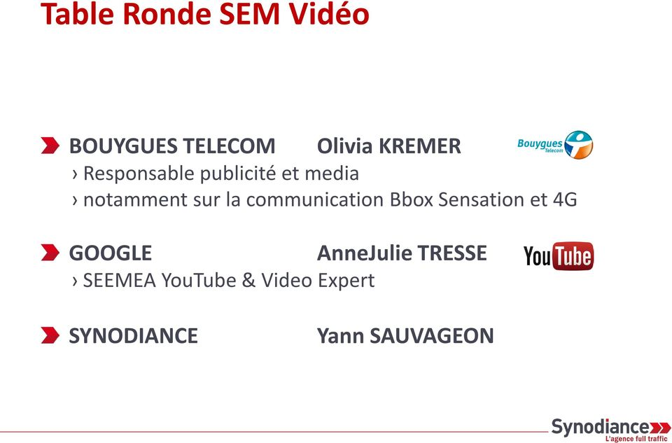 communication Bbox Sensation et 4G GOOGLE SEEMEA