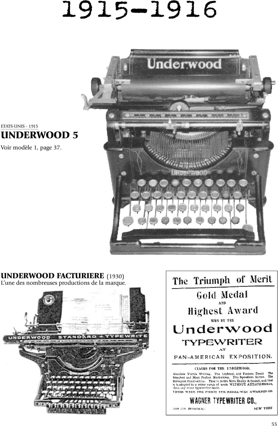 UNDERWOOD FACTURIERE (1930) L une