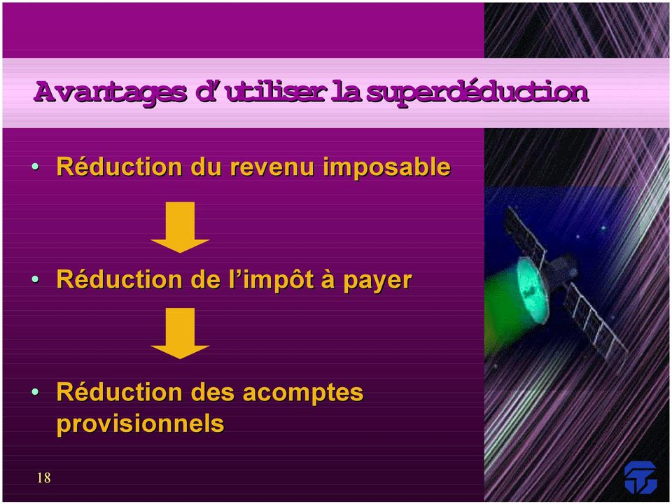 imposable Réduction de l impôt à
