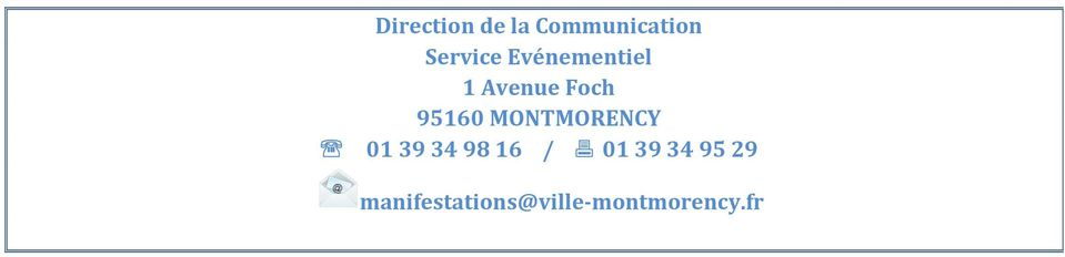 MONTMORENCY 01 39 34 98 16 / 01 39 34