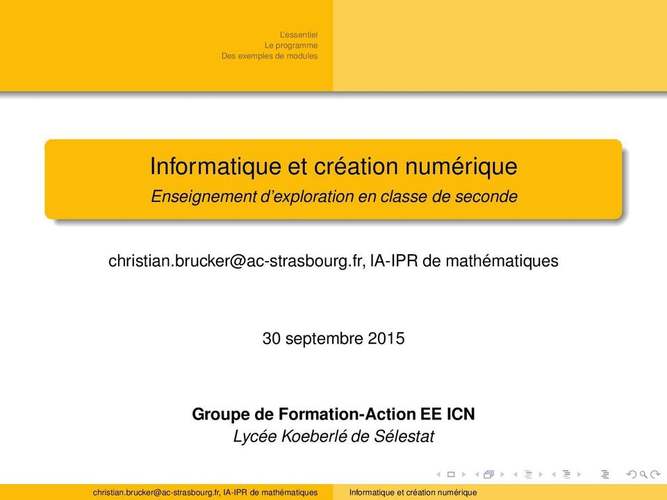 2015 Groupe de Formation-Action