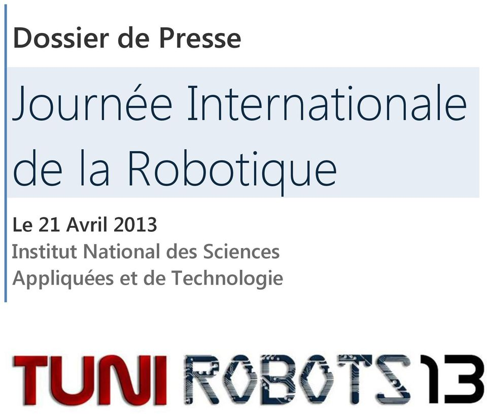 21 Avril 2013 Institut National
