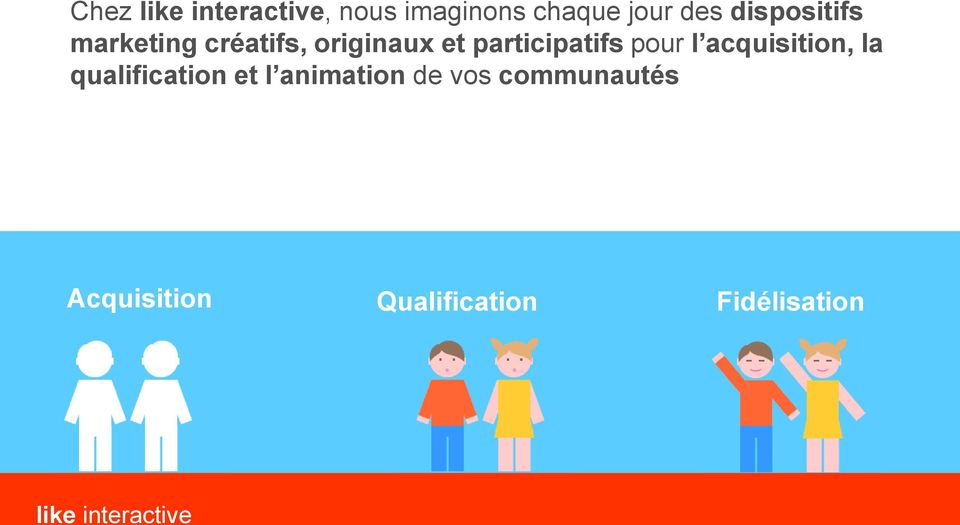 l acquisition, la qualification et l animation de