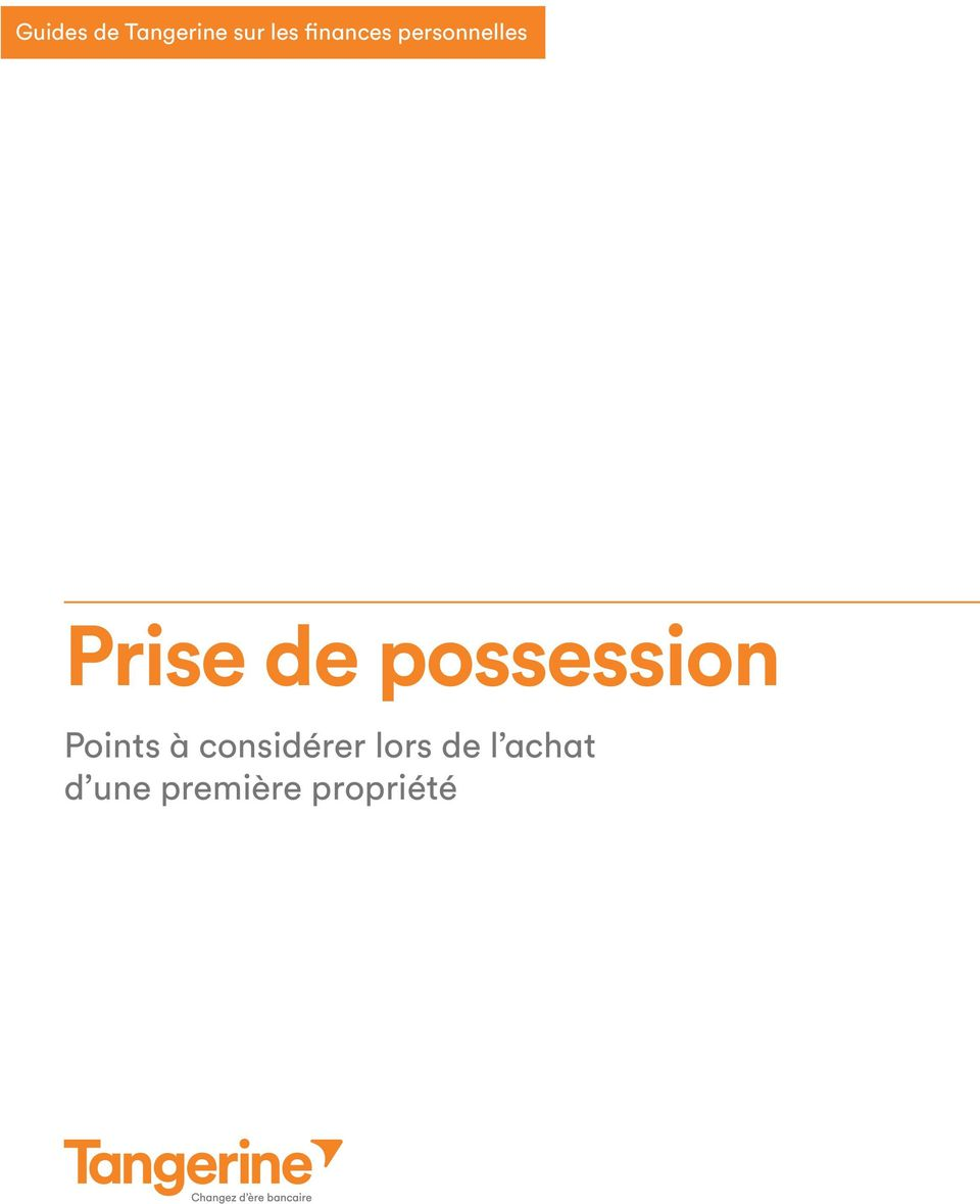 possession Points à considérer