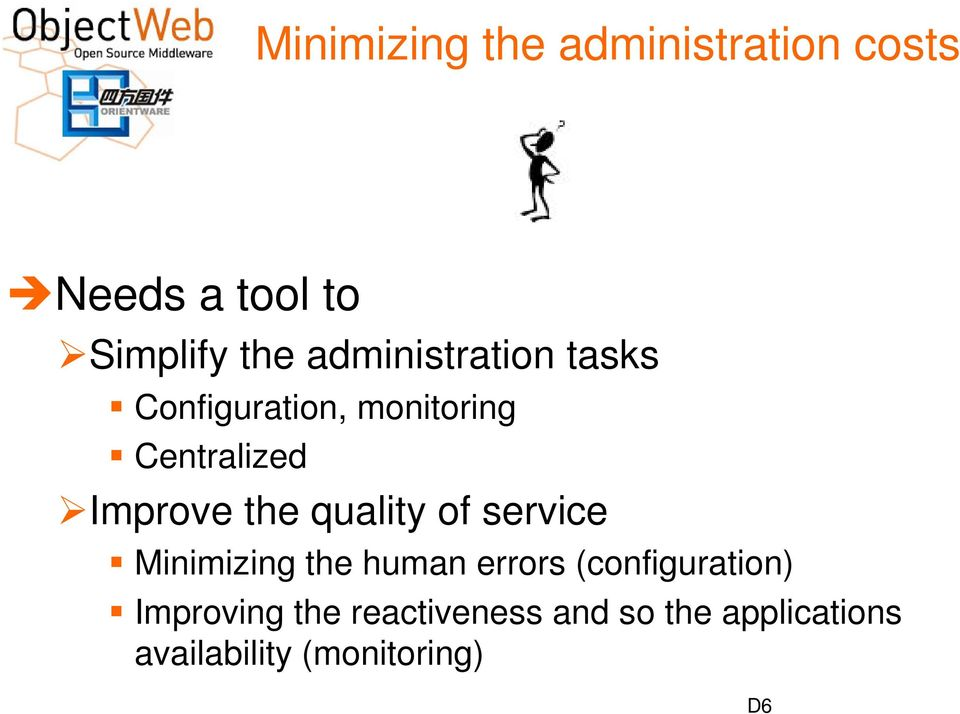 the quality of service Minimizing the human errors (configuration)