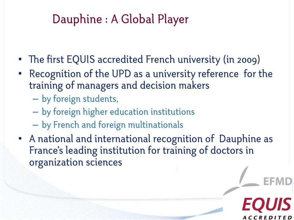 foreign higher education institutions by French and foreign multinationals A national and