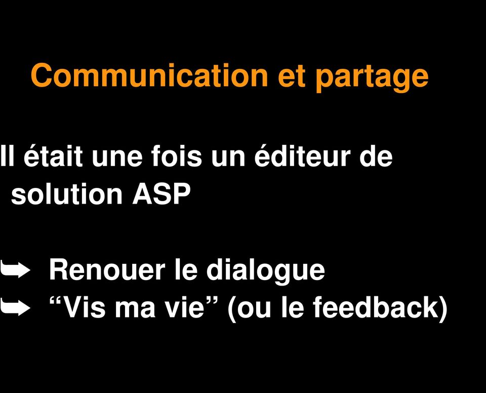 solution ASP Renouer le