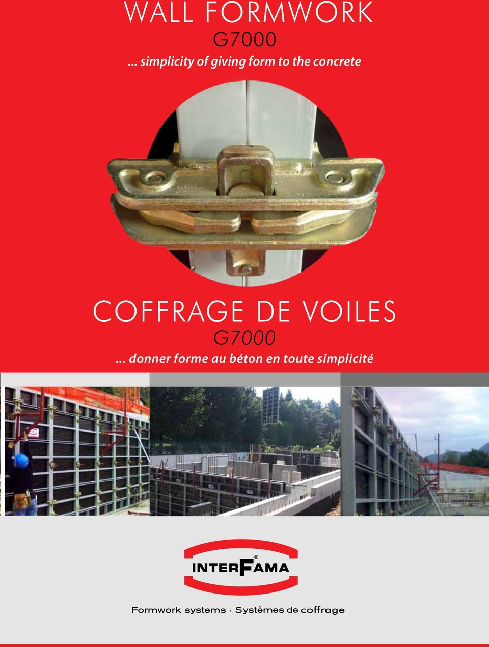 concrete COFFRAGE DE VOILES G7000.